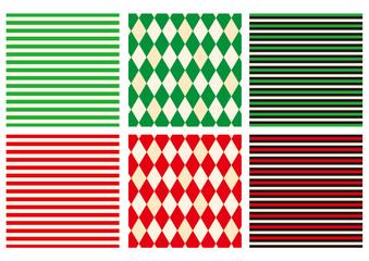 クリスマス背景素材パターンセット