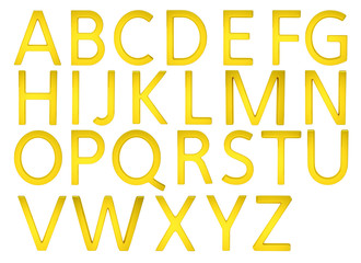 Gold Alphabetic Fonts