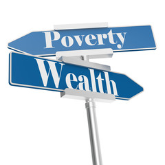 Wealth or Poverty signs