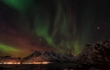 Lofoten Islands Northern Lights - Aurora Borealis Norway