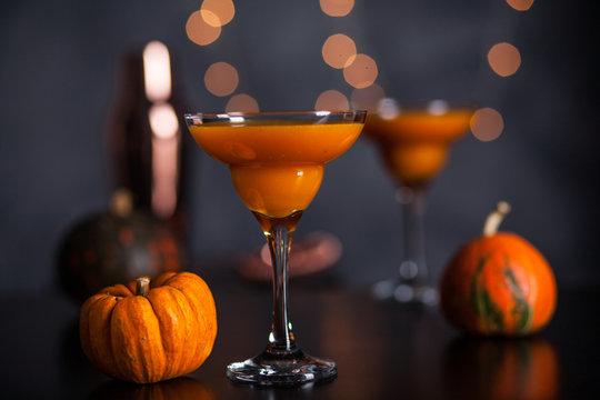 Orange martini cocktails