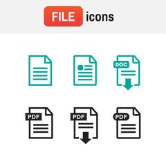 icon download pdf. PDF file download icon. Document text, symbol web format