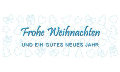 """Weihnachten - Grußkarte """"Frohe Weihnachten"""" (Blau)"""