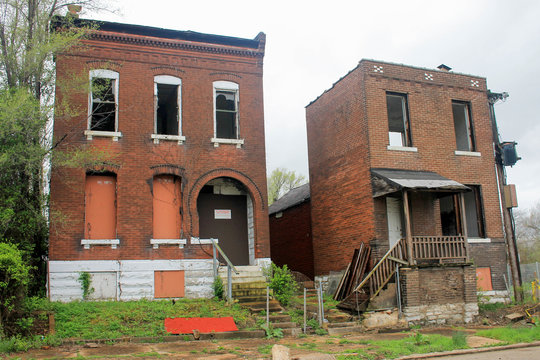 Abandoned Blighted Neighborhood in St. Louis