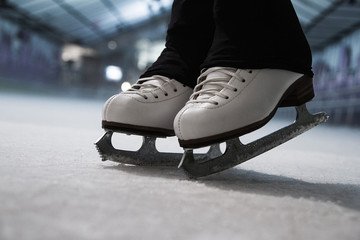 Ice skates detail