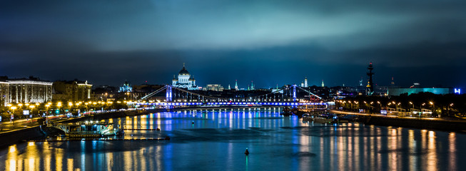 Moscow night panorama