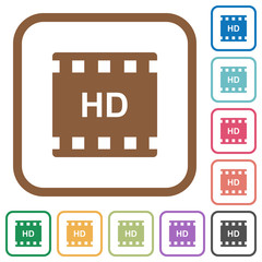 HD movie format simple icons