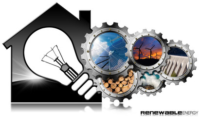 Renewable Resources - House with Light bulb