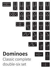 Dominoes bones set