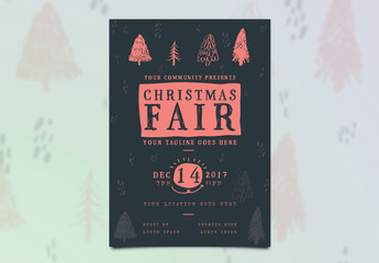 Illustrated Christmas Event Flyer Layout 2