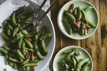 Snap Pea Salad with Bacon and Fresh Mint