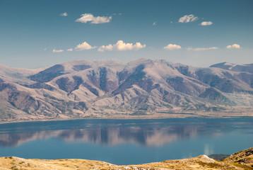 Mountain landscape with Prespa Lake, Macedonia Fototapete