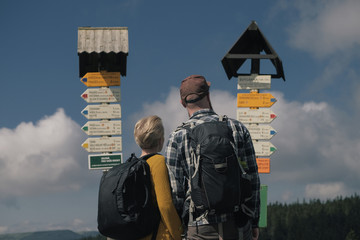 looking at signpost