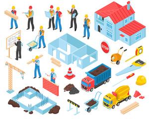 Construction Isometric Elements Set