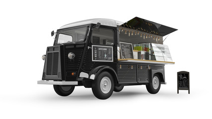Food Truck Isolated on White