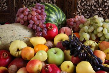 The fruit with the Uzbek gardens.