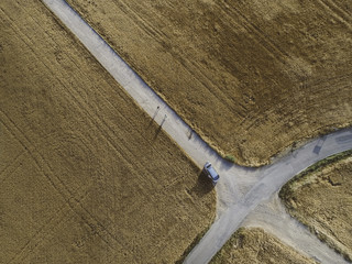 Roads from aerial view
