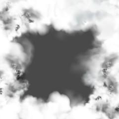 smoke frame dark background