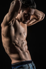 handsome fitness male