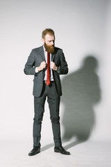 Ginger bearded gentleman