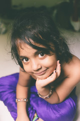 portrait of a girl child