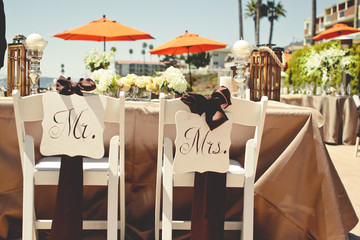 Chairs for Bride and Groom