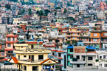 Buildings and houses pattern on city of Kathmandu, Nepal