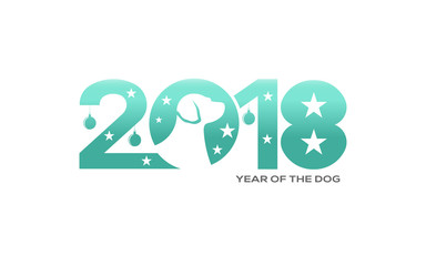New Year of the Dog 2018. Chinese Calendar