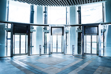 elevator at a modern building