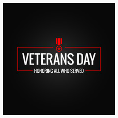 veterans day logo design background