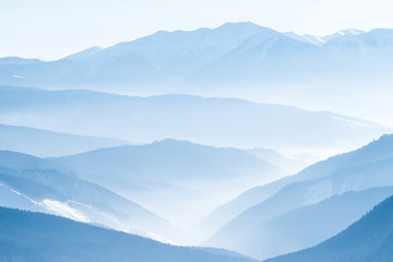 Wall Murals Mountains Lanscape with blue mountains