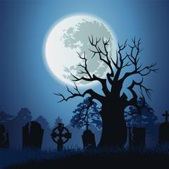 Vector landscape of Halloween