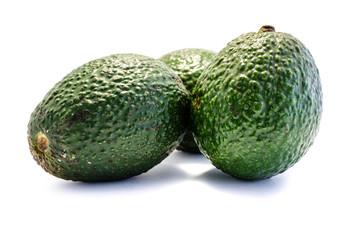 Avocado Avocados isoliert freigestellt auf weißen Hintergrund, Freisteller