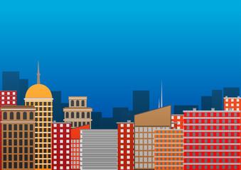 night city. vector illustration