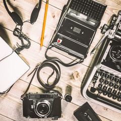 Photojournalist vintage objects
