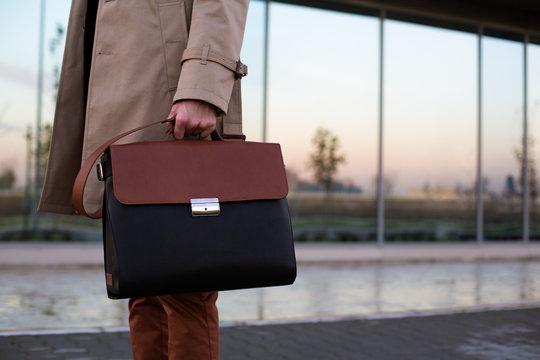 Businessman Holding His Bag