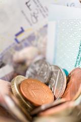 British coins and banknotes