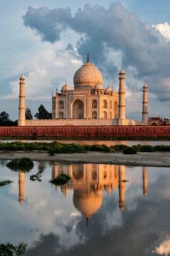 Taj Mahal reflections, Agra, India