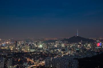 Seoul, from Mt Ansan