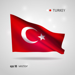 Vector flag of Turkey