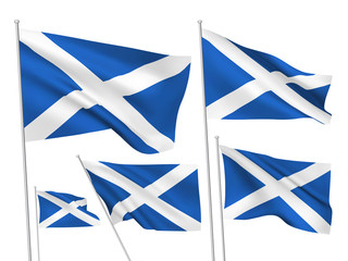 Vector flags of Scotland