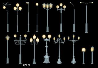 A set of street lights