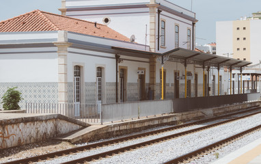Old central railroad terminal in Portugal.