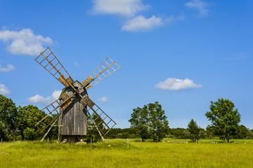 Typische Öland Windmühle