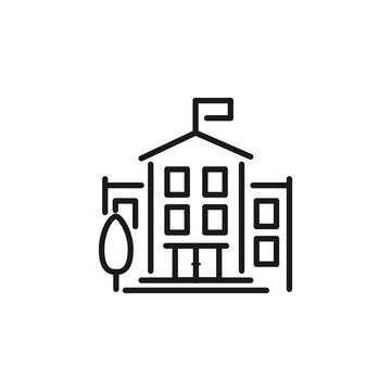 University Icon library sign building school icon
