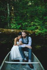 Canoe Ride on Wedding day