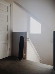 Skateboard in Minimalist Home