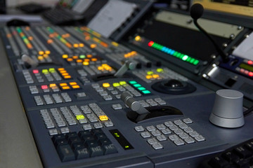 The television equipment in the Studio