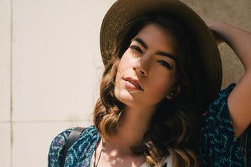 Summer Portrait of Beautiful Woman