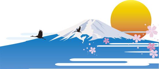 日の出の富士山